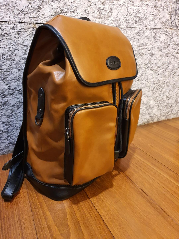 PEDRO Men Shoulder Bag// Backpack Men's Casual Large Multifunctional Leather Backpack AUTHENTIC!
