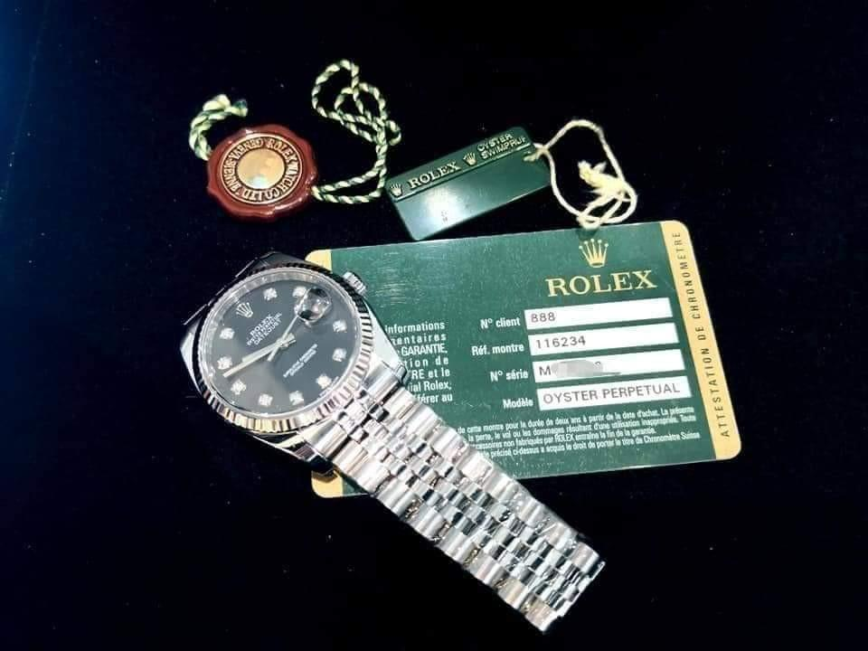 PREOWNED ROLEXDatejust, 116234 G, Rolesor,  Oystersteel and 18Ct White Gold, 36mm, Men-size, M Series @ Year 2009