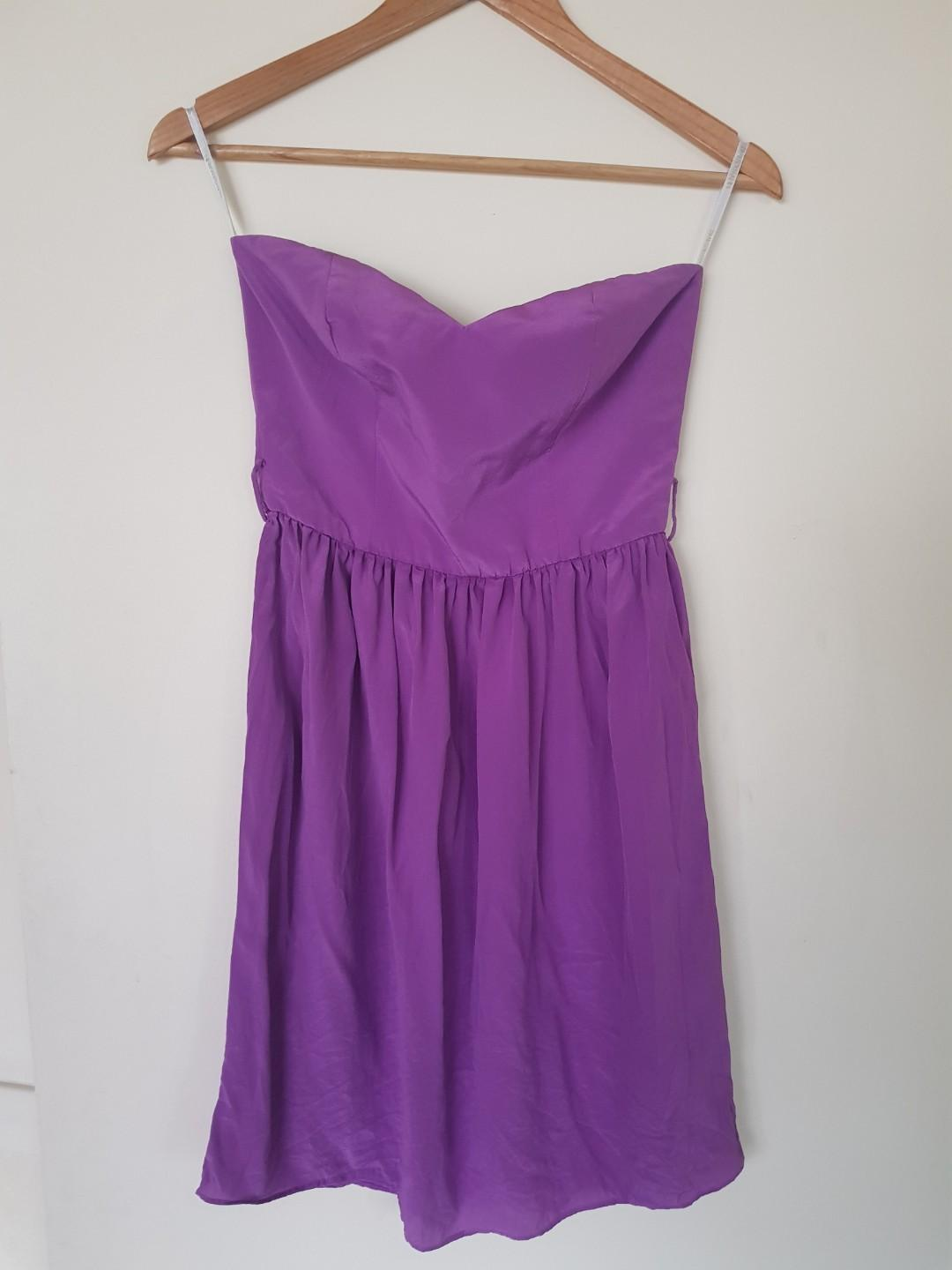 ZIMMERMANN Purple Strapless Sweetheart Size 0 (6 or XS)