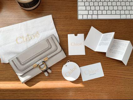 Chloé Marcie Flap Wallet in Cashmere Grey