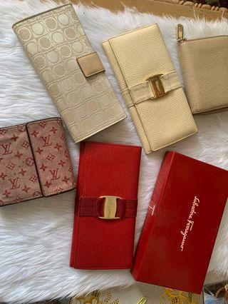 💯authentic wallet bundle 5 pcs