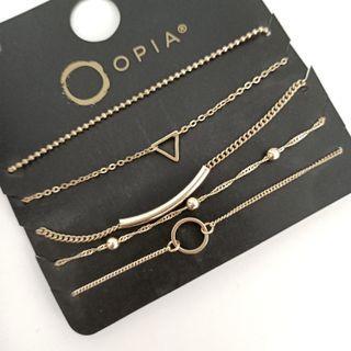 (買5送1)歐美品牌超值5條裝精緻手鍊