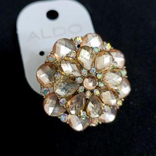 (買5送1)歐美品牌獨特彈力水晶寶石指環戒指