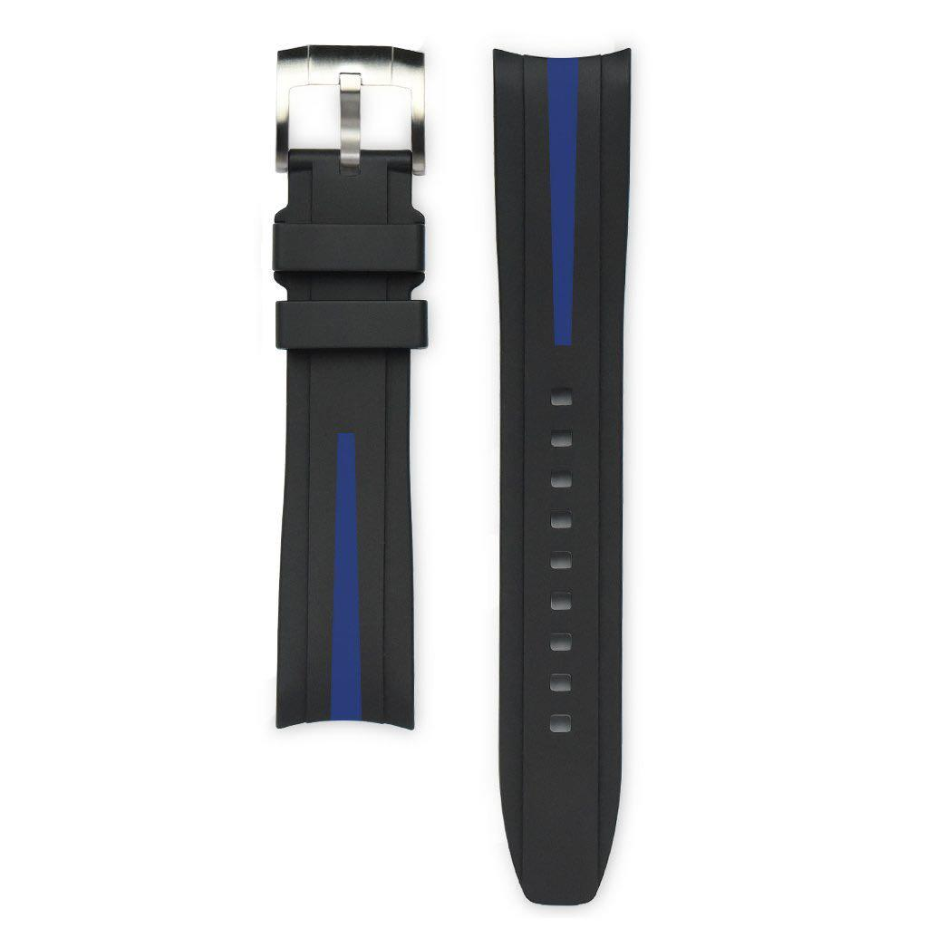 Brand New Everest Band Curved End Rubber Strap With Tang Buckle For Rolex GMT,Submariner,Daytona