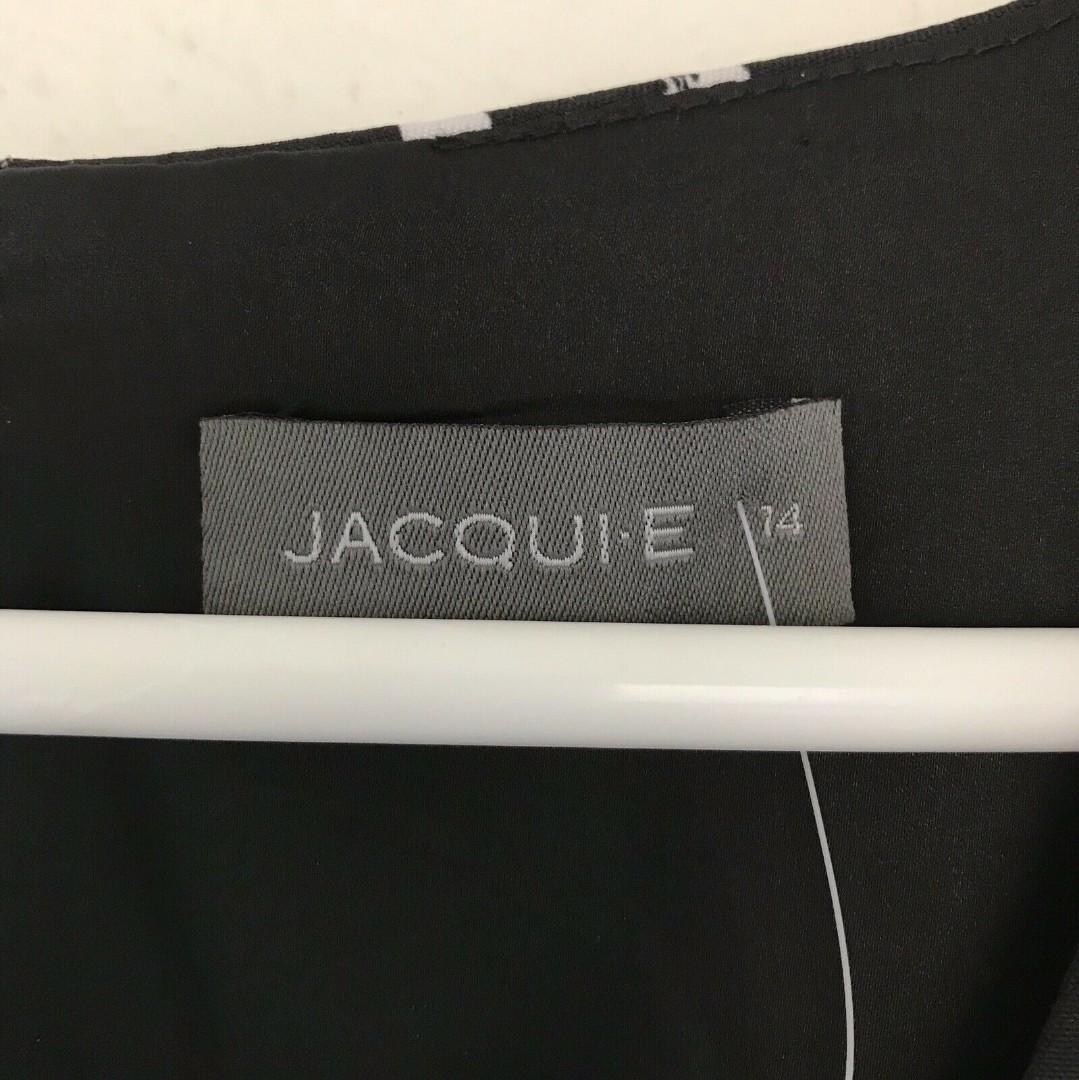 Brand New - Jacqui.e Size 14 Black and White Polka Dot Dress