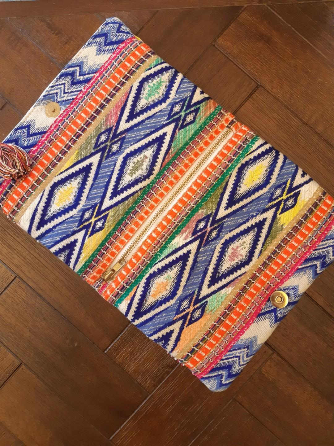 Brand new clutch bag. Gorgeous colorfully beaded and embroidered 'Megan Park' clutch