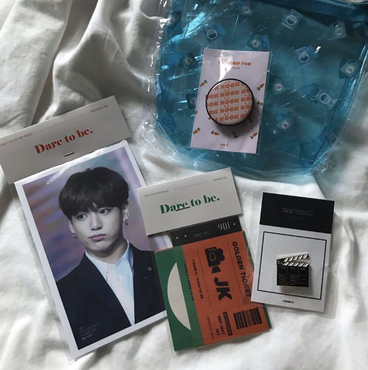bts jungkook idareujk fansite photobook set loose items