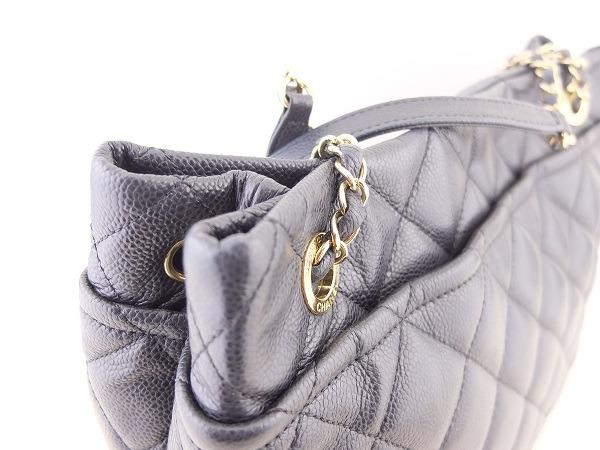 Chanel Quilted Caviar Leather Timeless CC Soft Shopping Tote (Black + Gold Hardware)