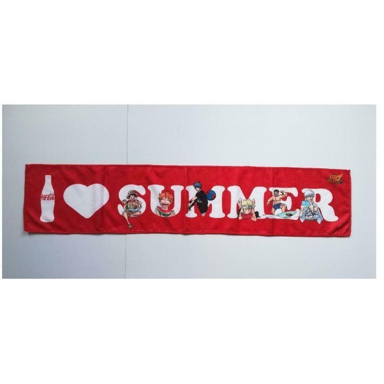 Coca-Cola x 50th Anniversary Weekly Shonen Jump - I ❤️ SUMMER - Fluffy Muffler Towel