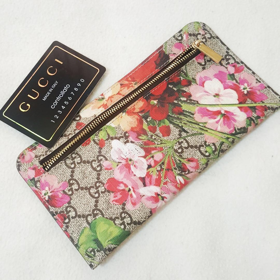 Gucci GG Flora/Bloom Zipper Wallet (Not Ori-Dapat hadiah belum dipakai)