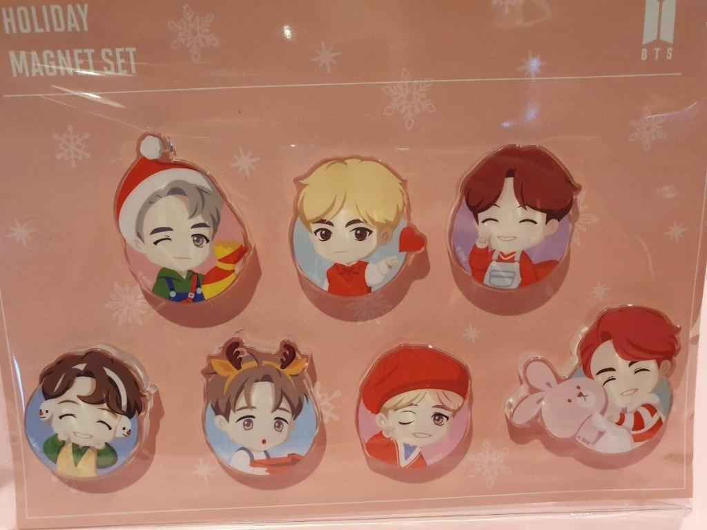 Magnet Holiday Ver SET - BTS POP-UP HOUSE OF BTS Official MD CHARACTER