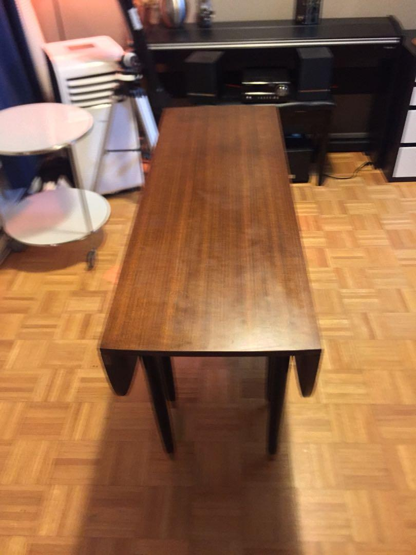 Mid century modern walnut E. Gomme for GPlan drop leaf table