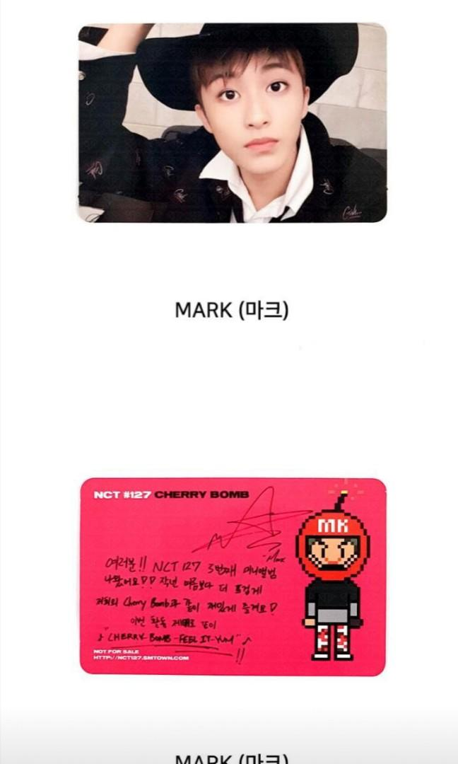 NCT MARK SM MUSEUM OFFICIAL PHOTOCARD (READYSTOCK)