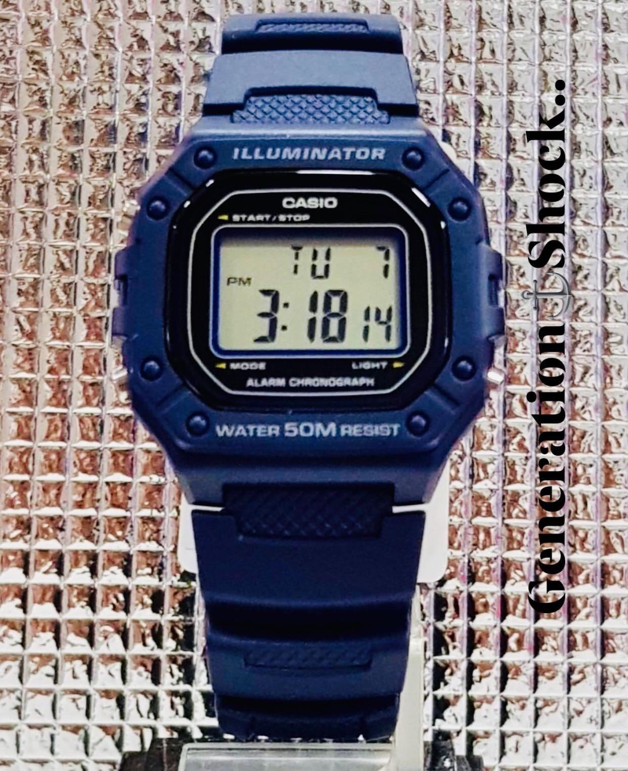 NEW🌟CASIO UNISEX SPORTS WATCH : 100% ORIGINAL AUTHENTIC : By BABY-G-SHOCK ( GSHOCK ) COMPANY : W-218H-2AV (NAVY-BLUE)
