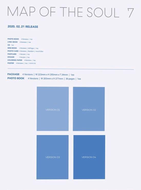 <NON PROFIT> BTS MAP OF THE SOUL : 7 GO PREORDER