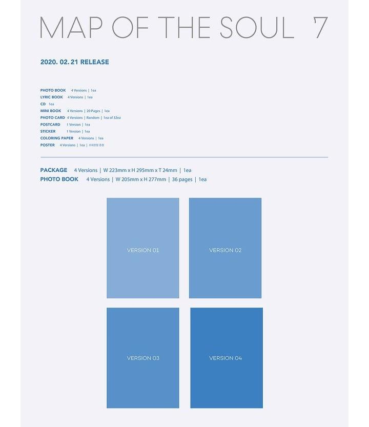 (Direct Shipping) BTS Map Of The Soul : 7 (Choose Version)