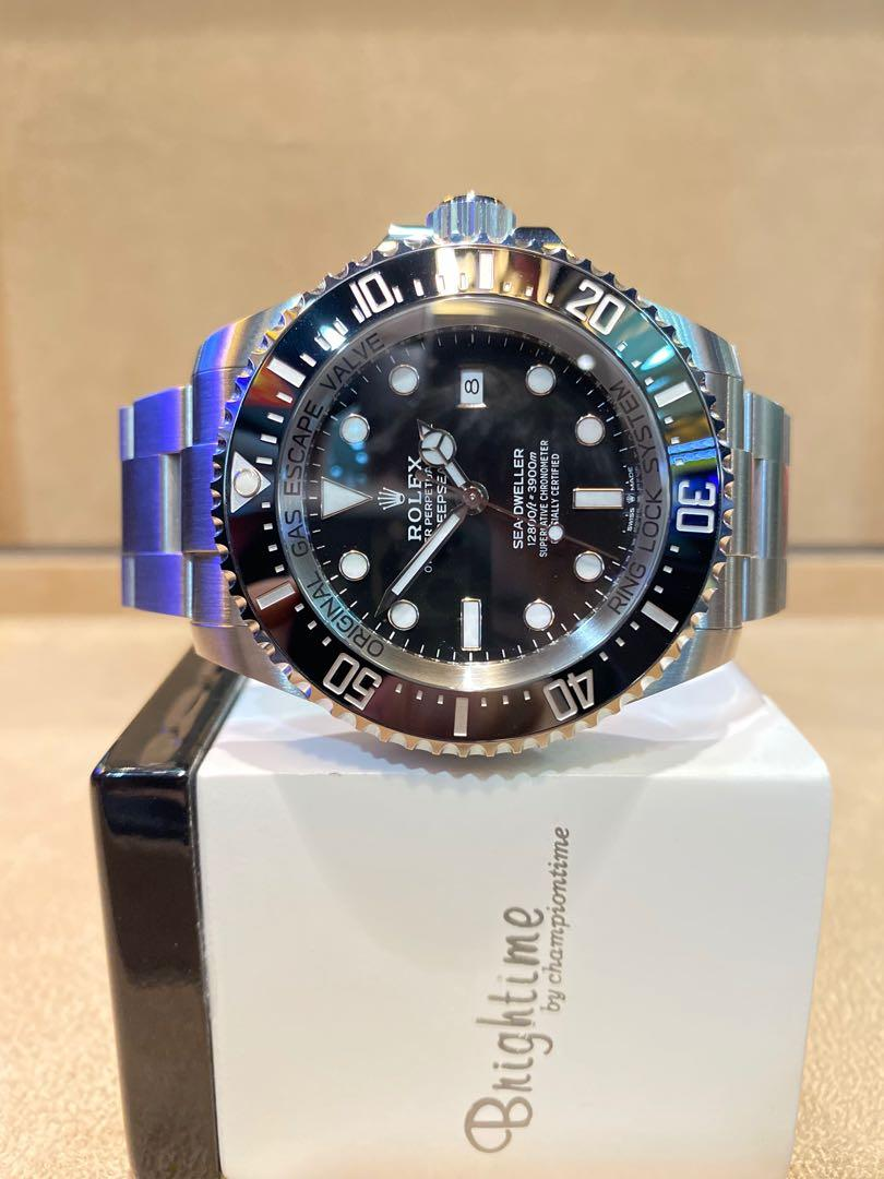Pre Owned Rolex Oyster Deepsea Sea Dweller 126660 Black Dial Automatic Steel Casing Bracelet
