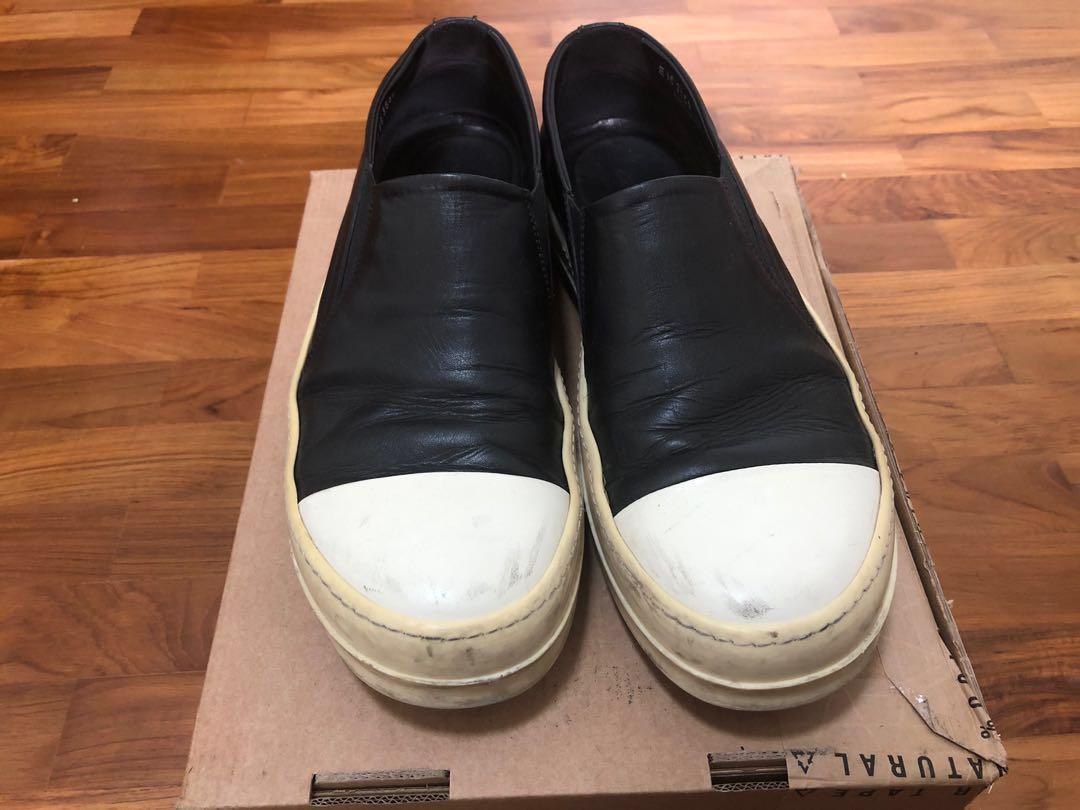Rick Owens Mainline Slip-On Sneakers 43