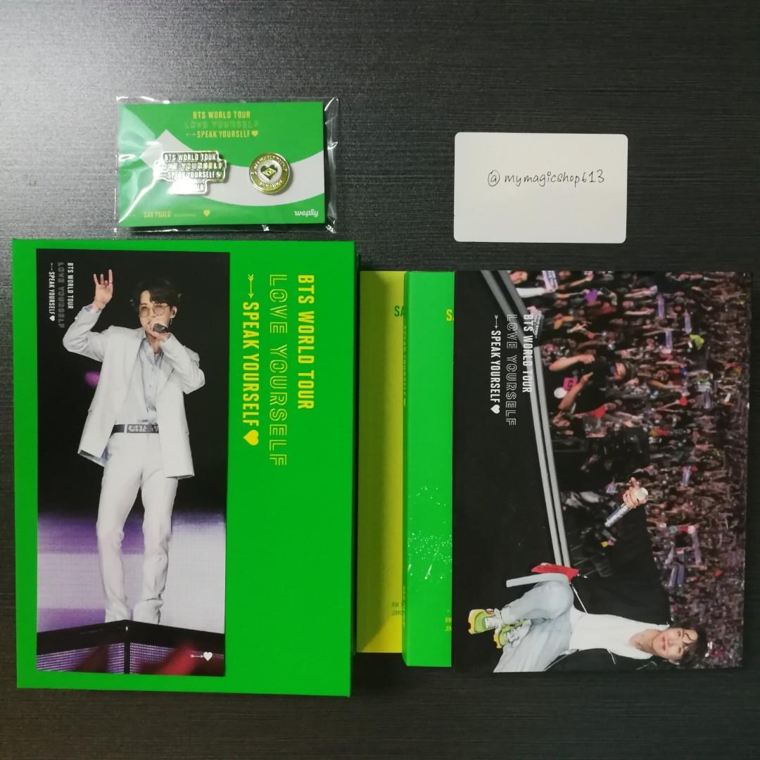 <SOLD> BTS 'LOVE YOURSELF: SPEAK YOURSELF' SAO PAULO DVD WITH JHOPE PHOTO BOOKMARK