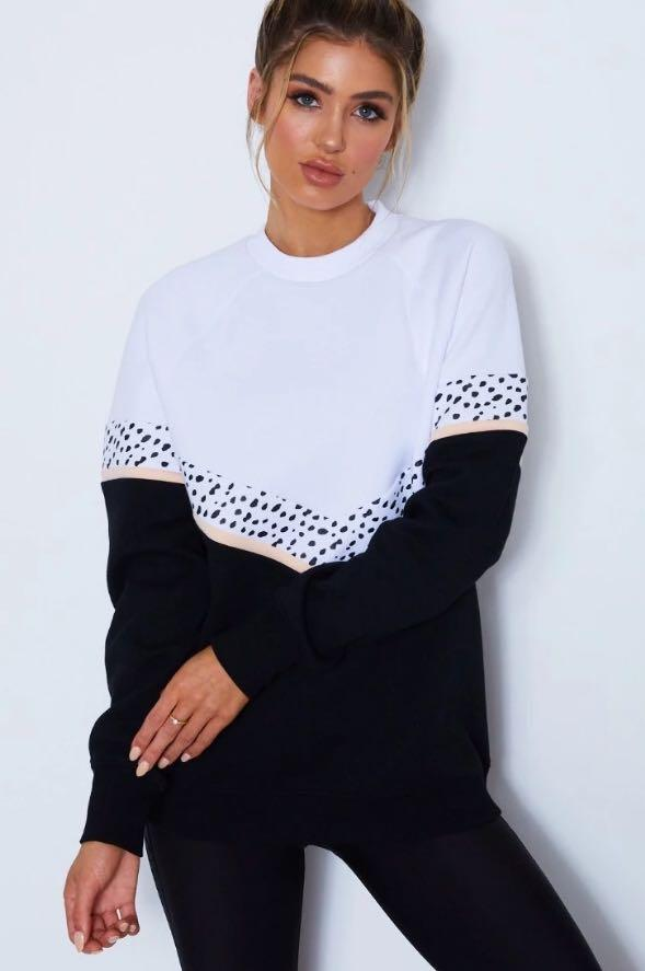 Sarah's Day x White fox 'All I do is brunch' sweater