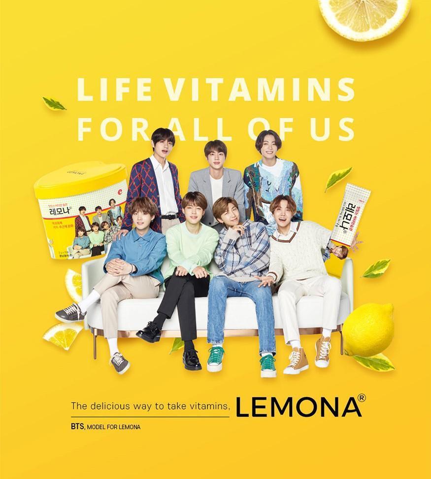 (Jungkook Set + Jungkook Lemona Box) SHARING READY STOCK Lemona x BTS Vitamin C