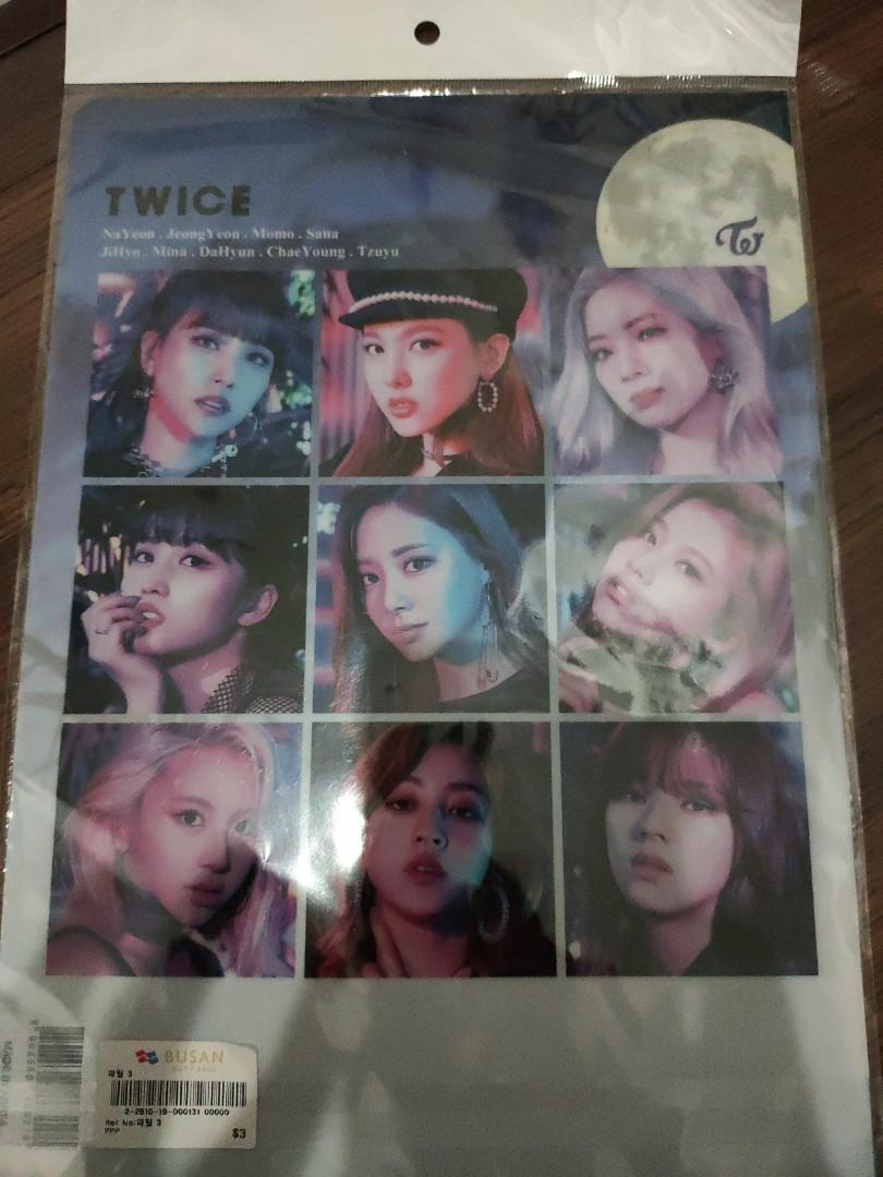 Twice files and post card + sticker set(from busan)