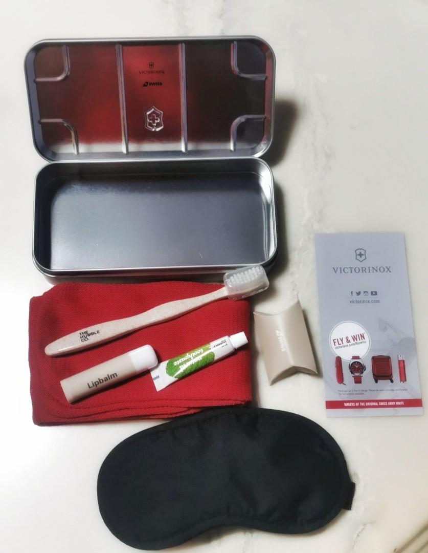Victorinox Metal Case with Inflight Amenity Kit by Swiss Air Business Class - SORRY NO DEALING DURING MCO
