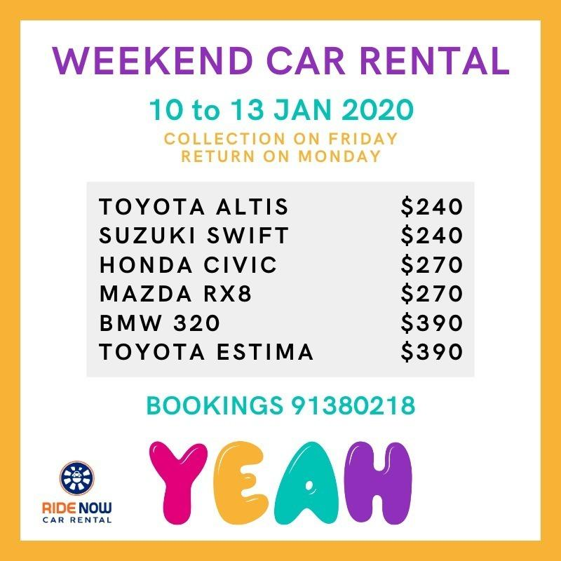 Weekend Promotion! Sedan / Hatchback / MPV available