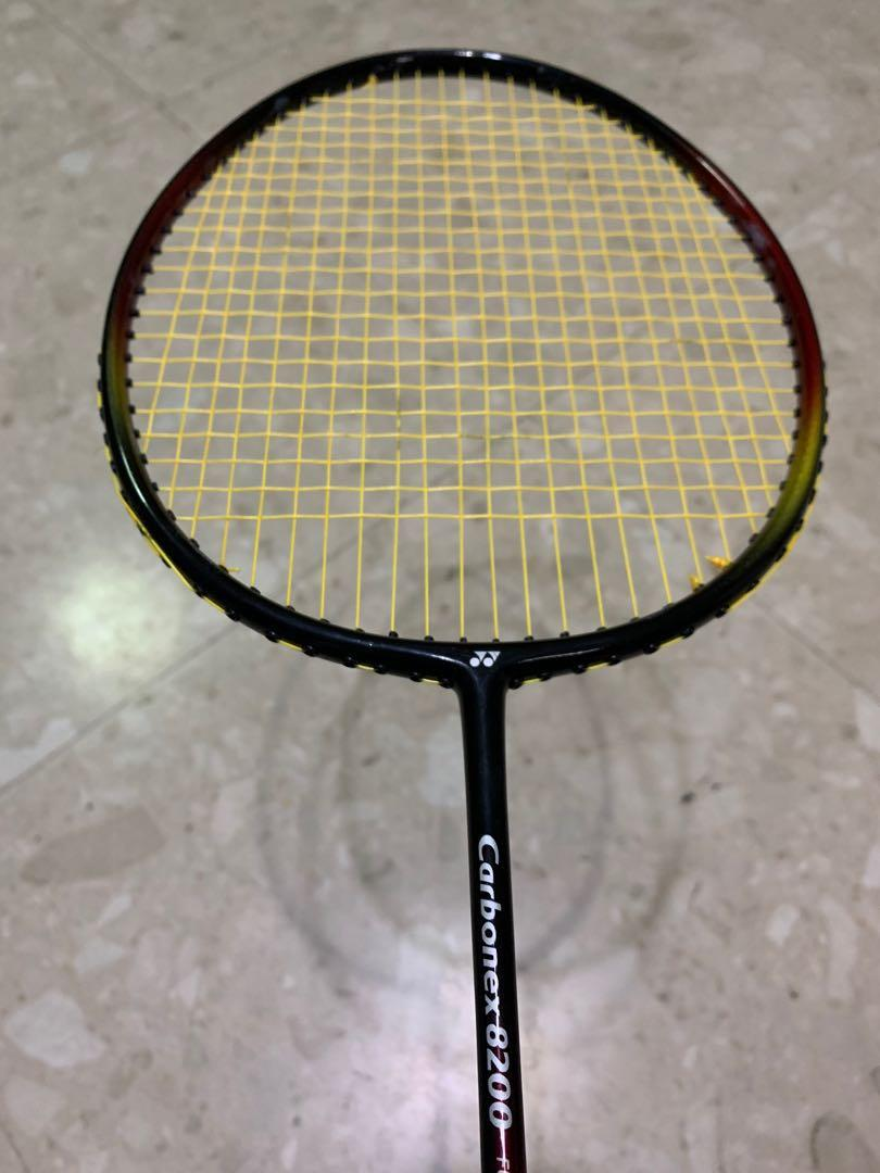 Yonex Carbonex 8200 With New String Sports Sports Games Equipment On Carousell