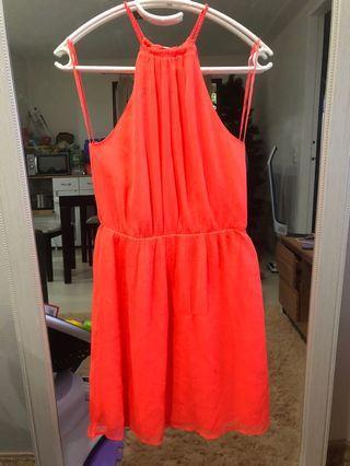 Neon Pink/Orange dress