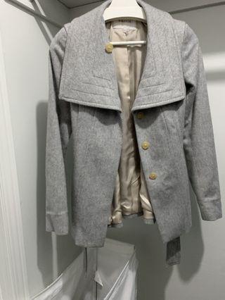 Aritzia  Babaton light grey Spencer coat xxs
