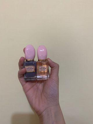 指甲油(芋頭紫、粉透明)