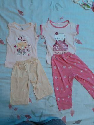 Bundle Take Both Set Terno Pambahay Pantulog Girl Baby