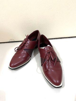 (Used) Pedro Deep Red Pointed Loafers