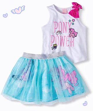 My Little Pony Tank Top & Scooter Skirt 2pc Girls Outfit