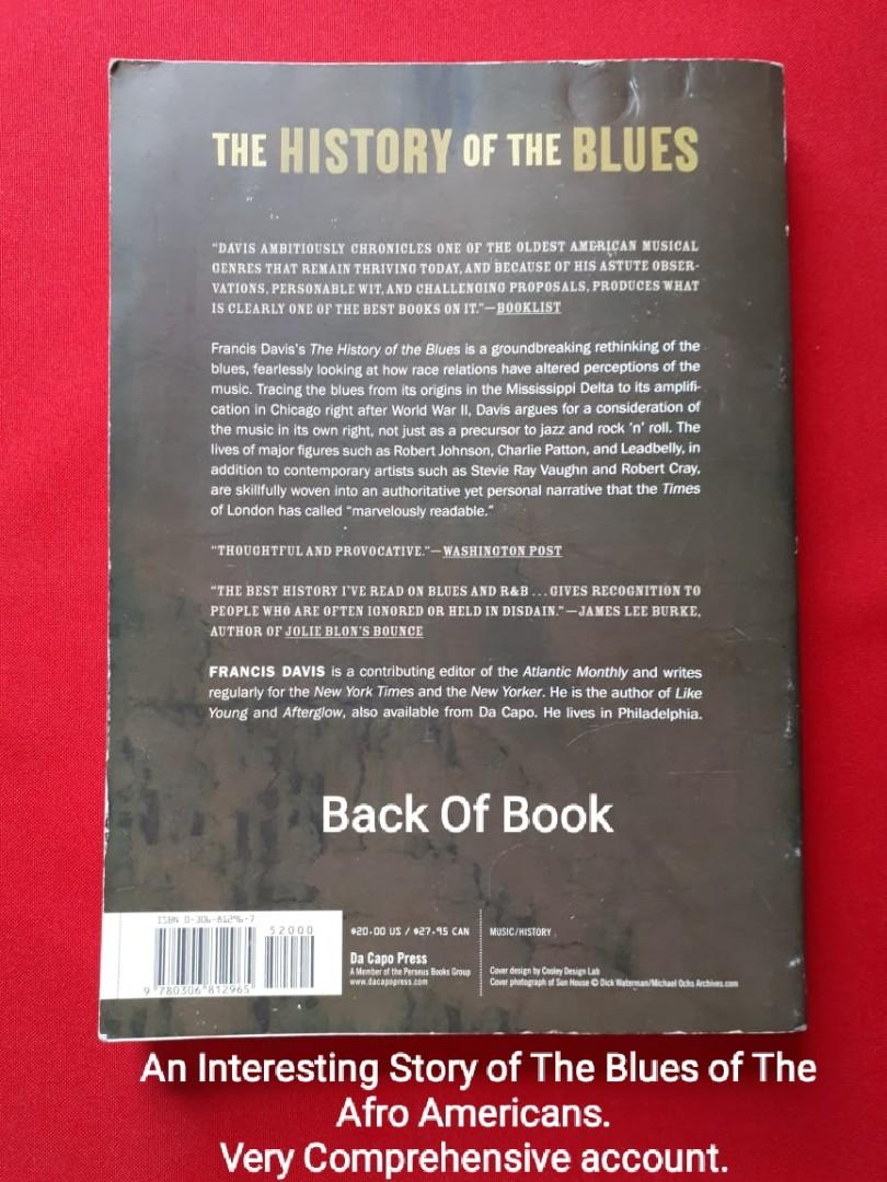 🔴 BOOK FOR SALE - The  HISTORY of the BLUES by: Francis Davis. Yr: 2003✔