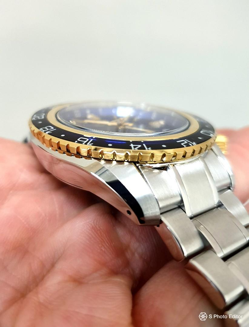 * FREE DELIVERY * Brand New 100% Authentic Grand Seiko Spring Drive GMT Blue Dial Mens Travel Partner