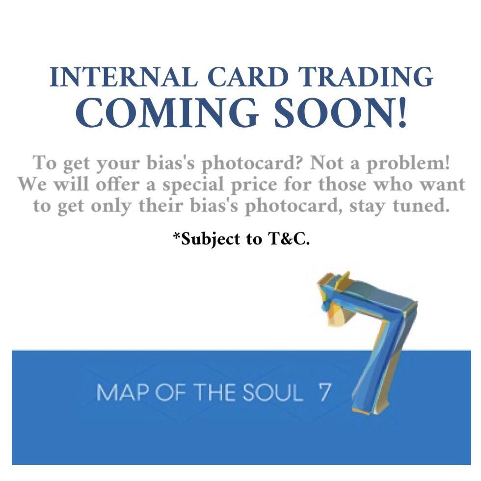 🎉 PREVIEW - BTS MAP OF THE SOUL 7  - INTERNAL CARD TRADING