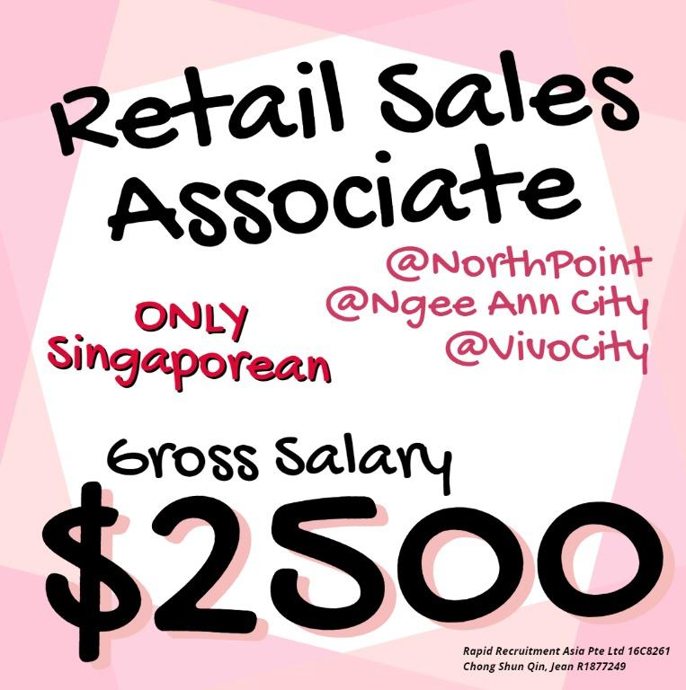 🌈 Sales Promoter / Retail Assistant 🌈 (Gross $2500)