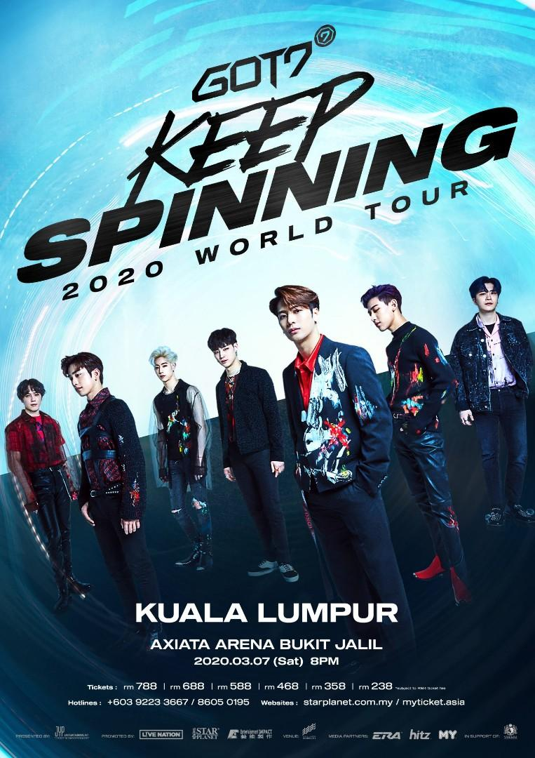 [ TICKETING SERVICE ] GOT7 KEEP SPINNING IN KUALA LUMPUR 7TH MARCH 2020