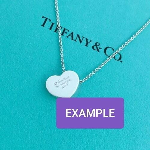 """AUTHENTIC TIFFANY & CO. DIAMOND NECKLACE - DIAMOND CARAT 0.05 APPROX. - SILVER HEART SHAPE DESIGN - 16"""" INCH LENGTH APPROX. - EXCELLENT CONDITION - STILL VERY SHINY"""