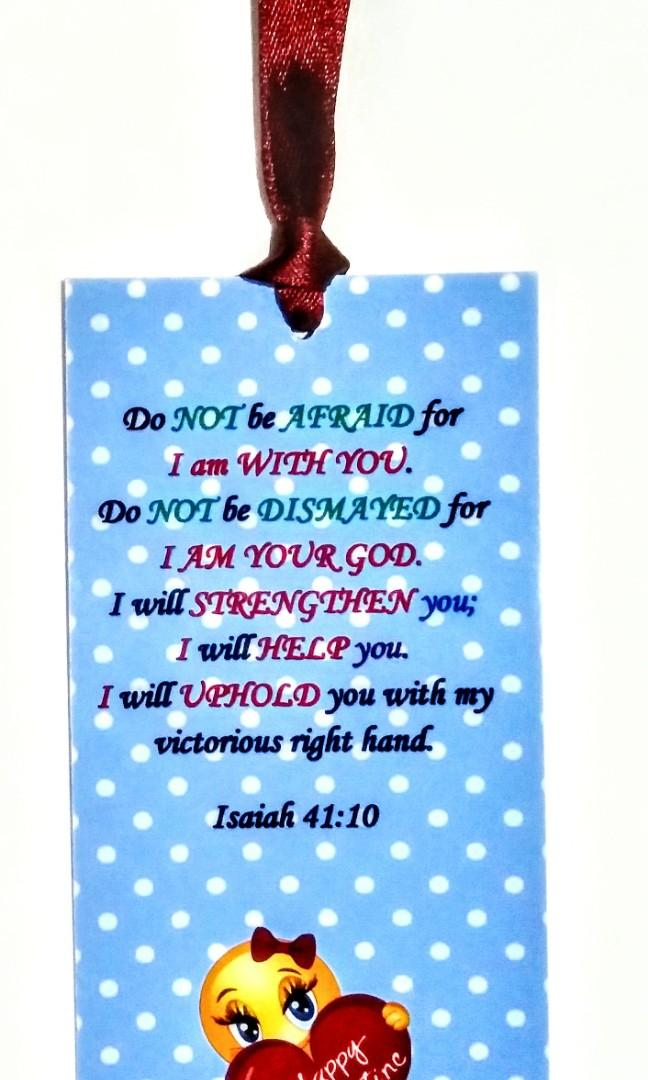 Bookmarks Bible Verses for Valentine's Day or Any Occasion 8 pcs per pack