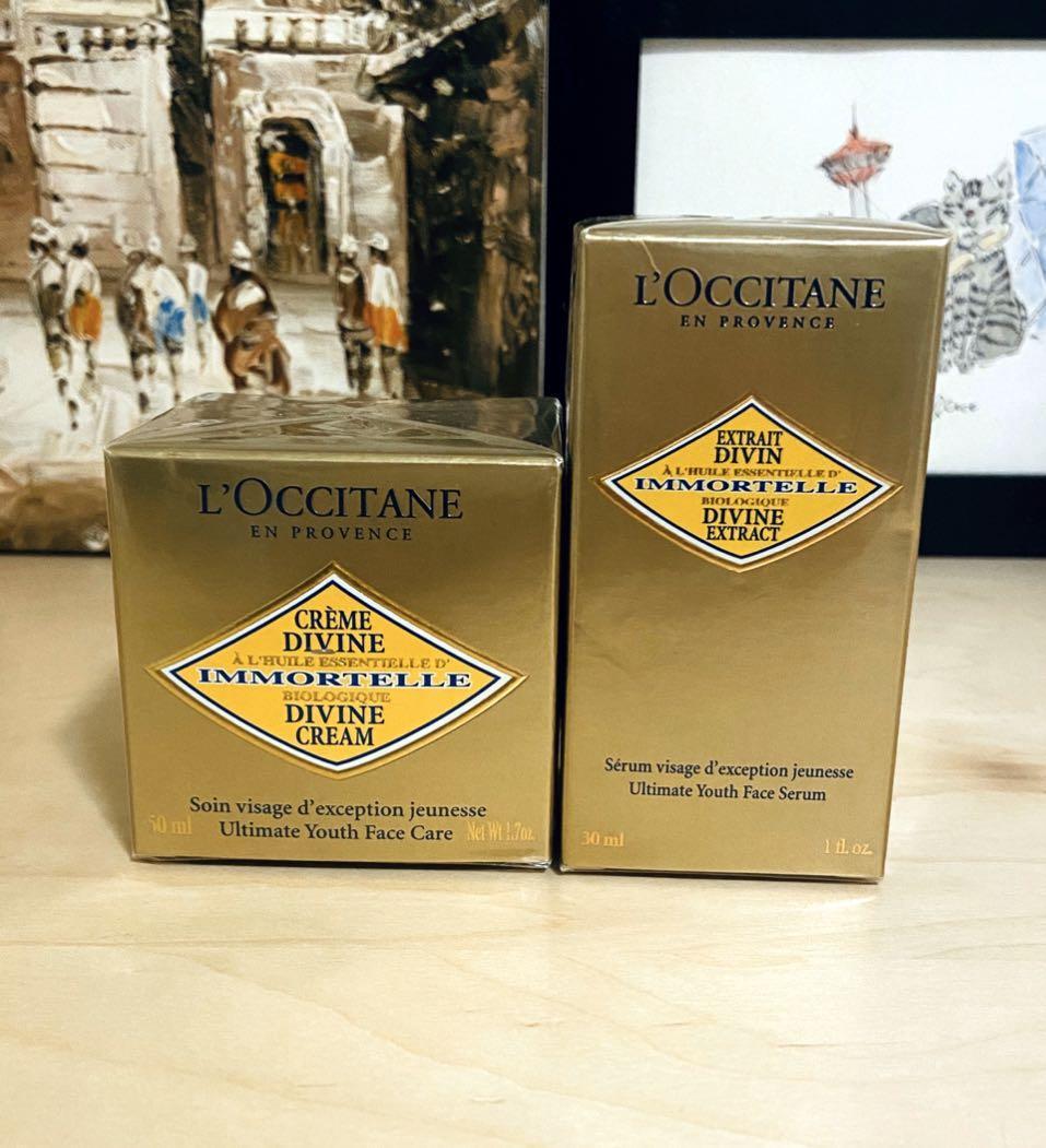 Brand New L'OCCITANE Immortelle Divine Cream & Extract Set