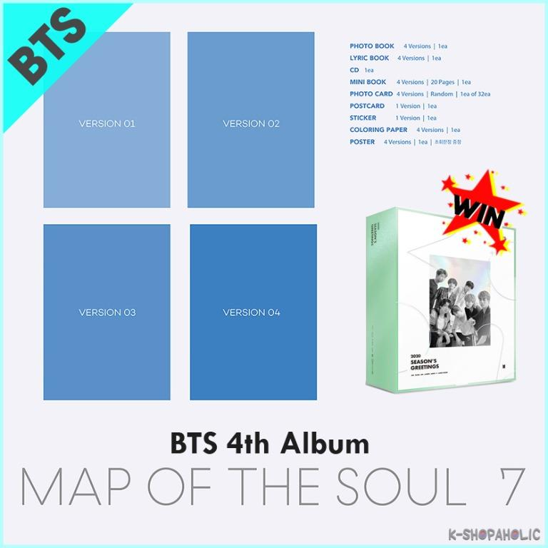 BTS - 4th Album ' MAP OF THE SOUL : 7 '