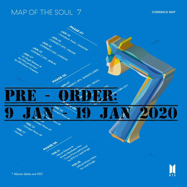 BTS MAP OF THE SOUL : 7 + WEPLY FREEGIFT + [Pre-order Poster ! Only first run purchase ]