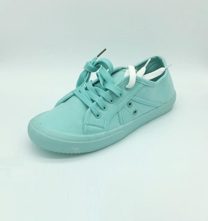 Cotton On Rubi Pastel Aqua Canvas Sneakers Size 10