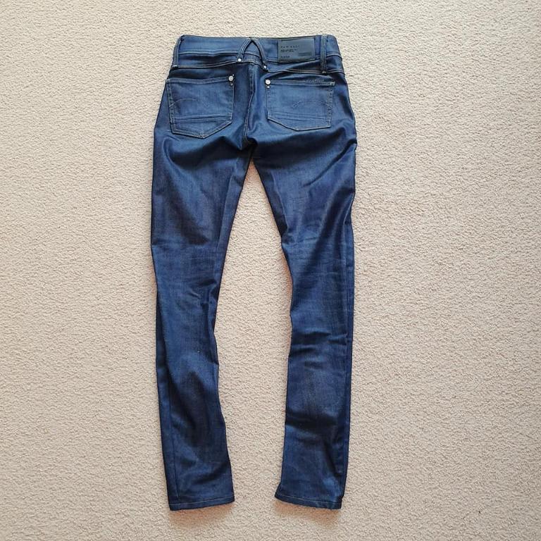 "Euc GStar Raw Denim Lynn Skinny Jeans size 26"" waist"