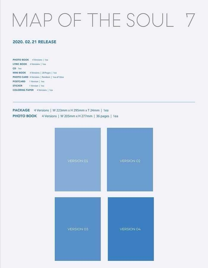 GROUP ORDER - BTS Map Of The Soul: 7 + Poster in tube