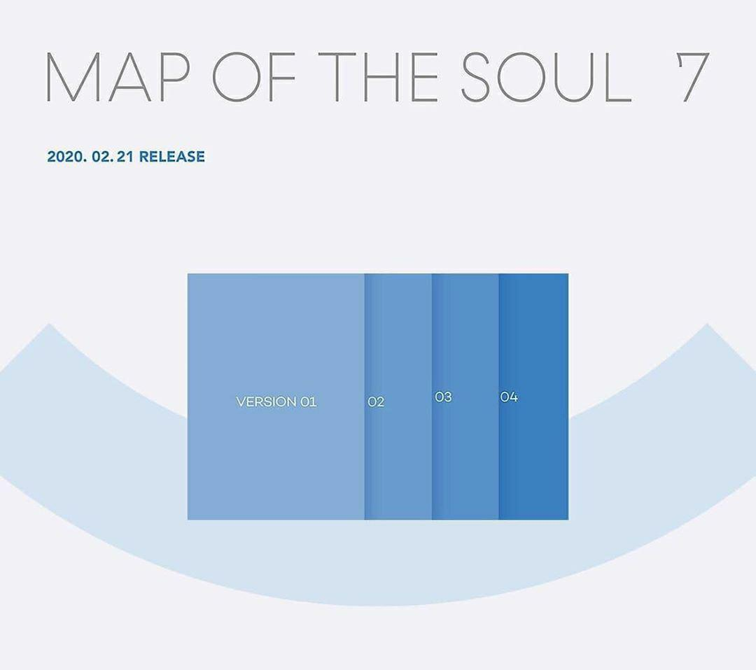 [LAST STOCK] BTS Map Of The Soul : 7 (All Version)