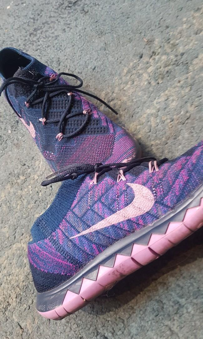 Nike Free 3.0 Running Trainers Purple Blue Size UK5